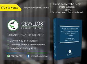 Introducción al derecho Penal. Felipe Rodríguez Moreno